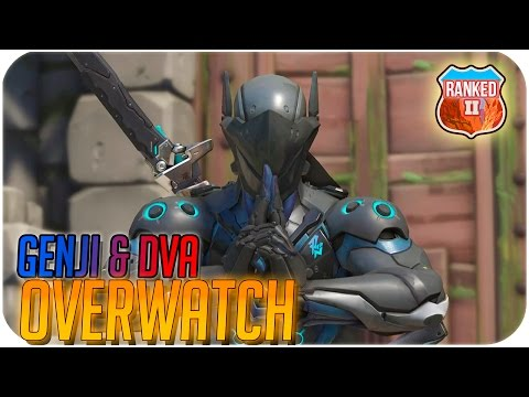 Overwatch  - (RANKED 2500+ SKILL POINTS) - Genji & D.VA - (36-2) EL DUO DINAMICO!
