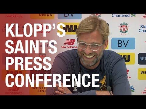 Jurgen Klopp's Southampton press conference LIVE from Melwood
