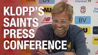 connectYoutube - Jurgen Klopp's Southampton press conference from Melwood | Lallana, Mane, Clyne and more