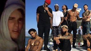 Odell Beckham Celebrates Playoffs w/ Justin Bieber & Trey Songz Boat Party Full of Blunts & Adderall