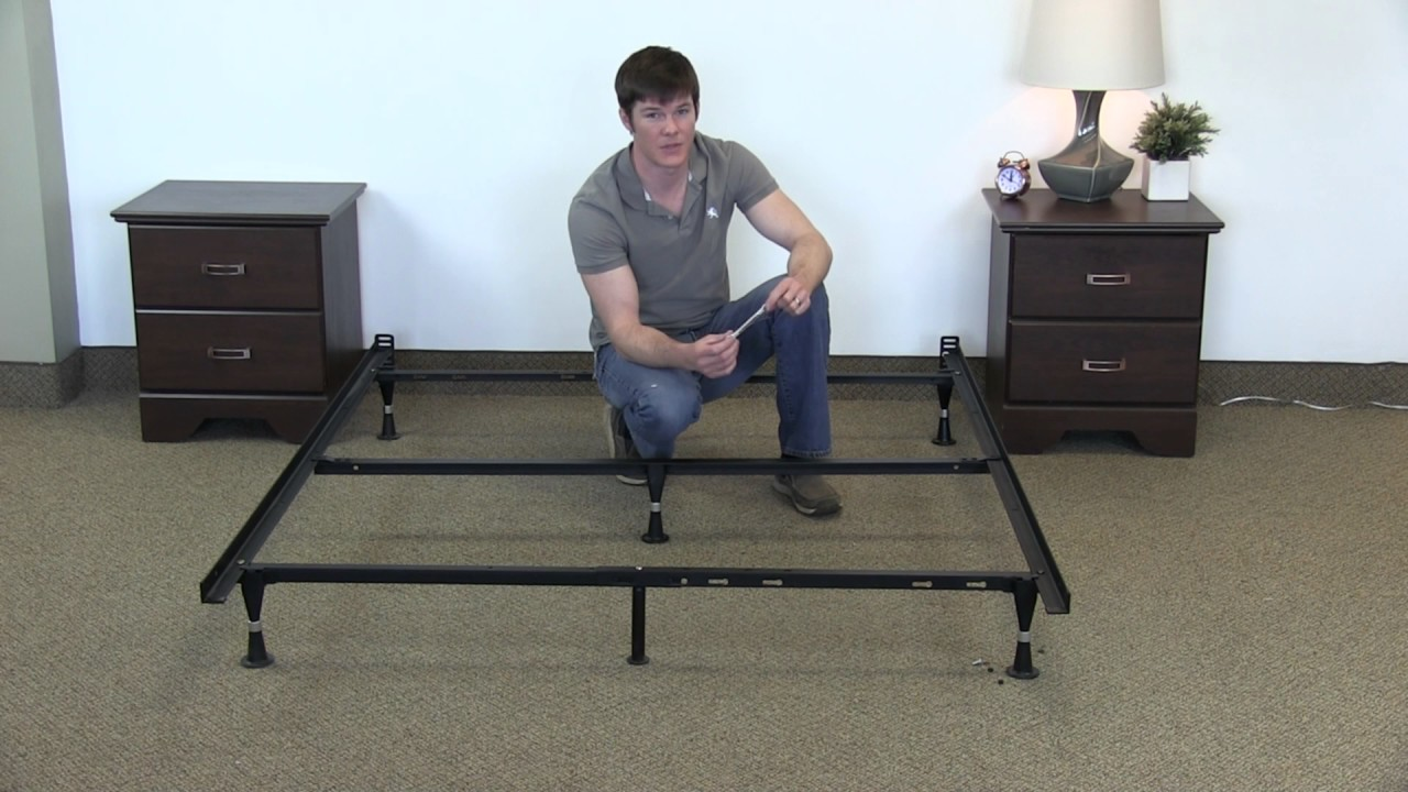 How to Assemble a Queen Bed Frame (Steel Malouf Frame)   YouTube