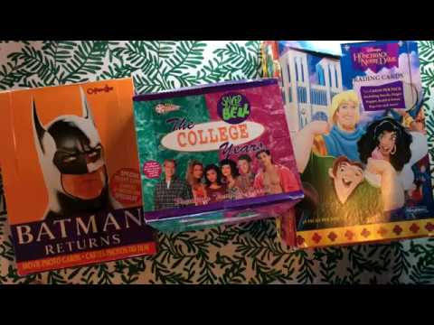 Unboxing 1990s Trading Cards - Batman, Disney, Saved By ...
