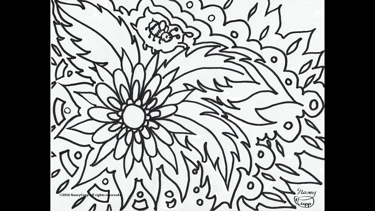 Turn your doodles into coloring pages youtube for Turn your photos into coloring pages