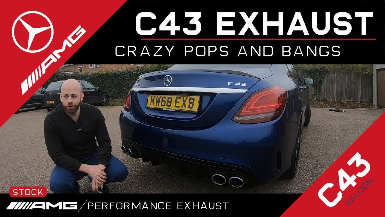 2019 C43 AMG Performance Exhaust Crazy pops and bangs!