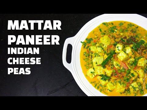 Mattar Paneer - Cheese & Peas Curry - Indian Vegetarian recipes - Matar Paneer