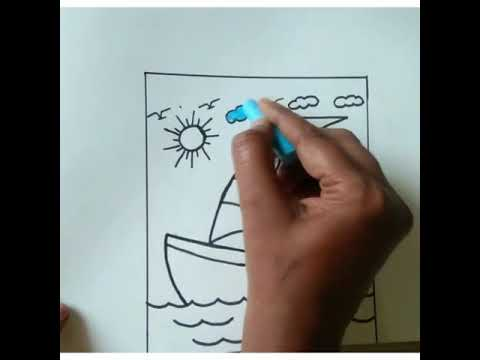 Grade 2 Art G.Brindha yatch coloring video - 51