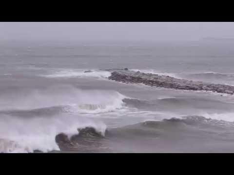 Temporal en Mar del Plata 100 km de viento.