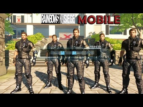 RAINBOW SIX SIEGE :  MOBILE NEW 10 MIN GAMEPLAY ONLINE MAX SETTING