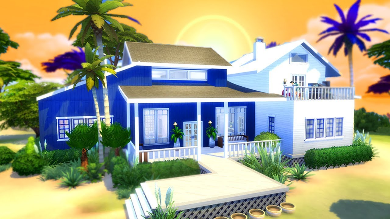 the perfect beach house the sims 4 house building youtube