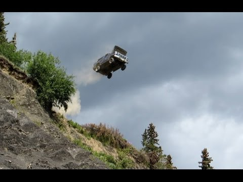 Image result for truck driving off cliff