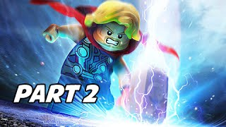 LEGO Marvel's Avengers Walkthrough Part 2 - Thor vs. Iron Man (Let's Play Gameplay Commentary)