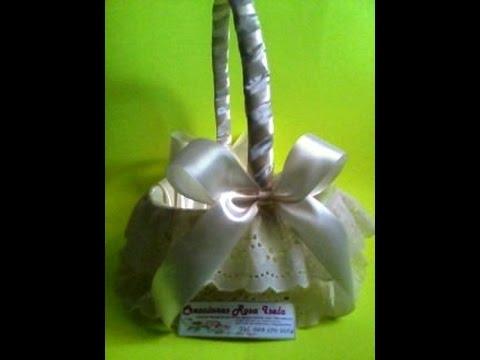 Como decorar una canasta para ceremonias no 11 youtube - Como adornar cestas de mimbre ...