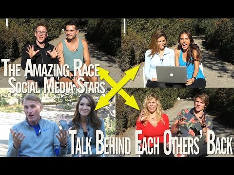 Amazing Race Social Media Stars - Cast's First Reactions to Seeing Each Other