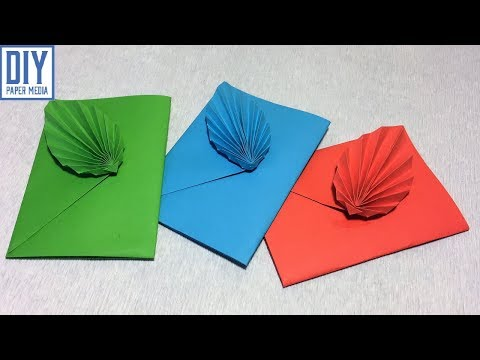 How to make leaf envelope paper | DIY origami envelope paper making step by step
