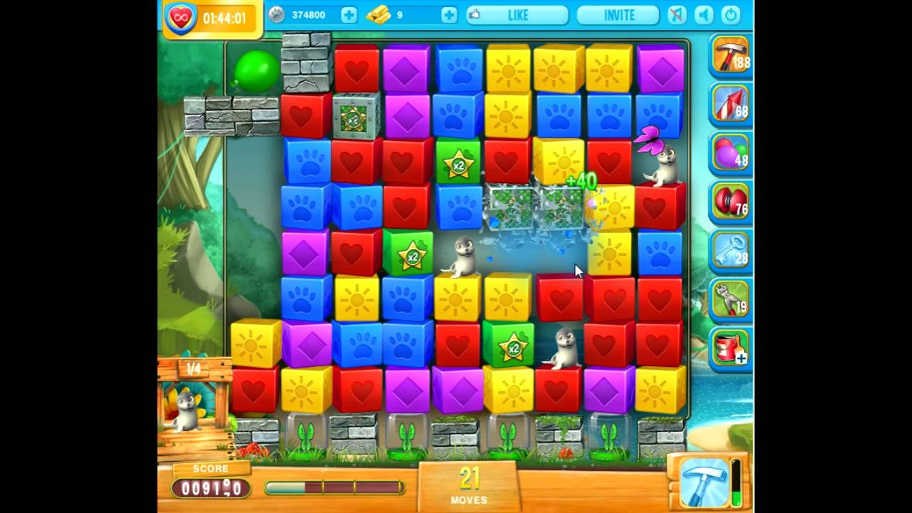 Pet rescue saga pet island level 4 no boosters 30th of for Pet island level 4