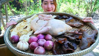 Yummy Duck Stuffed Steam Recipe - Duck Stuffed Cooking - Cooking With Sros