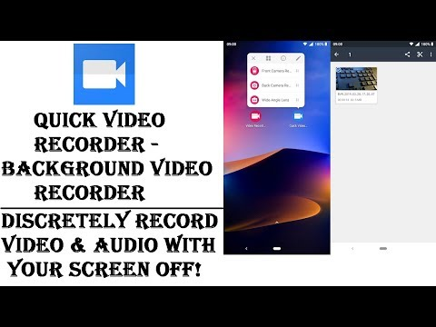 Quick Video Recorder - Background Video Recorder: Alternative To Dash Cams