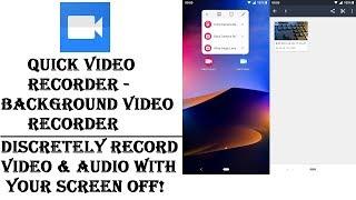 Quick Video Recorder - Background Video Recorder: Alternative to Dash Cams screenshot 3