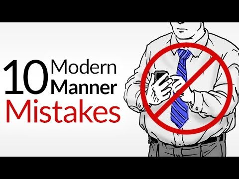 10 Modern Manner Mistakes | Bad Etiquette That KILLS First Impressions