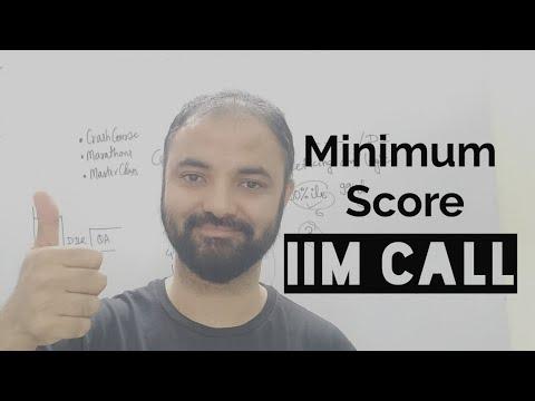 Get IIM call. Minimum score in each section.