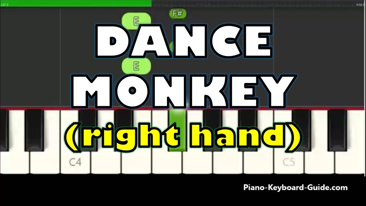 Tones and I - Dance Monkey (Right Hand Slow and Easy Piano Tutorial)