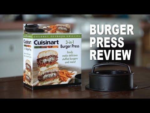 Cuisinart 3-in-1Burger Press Review