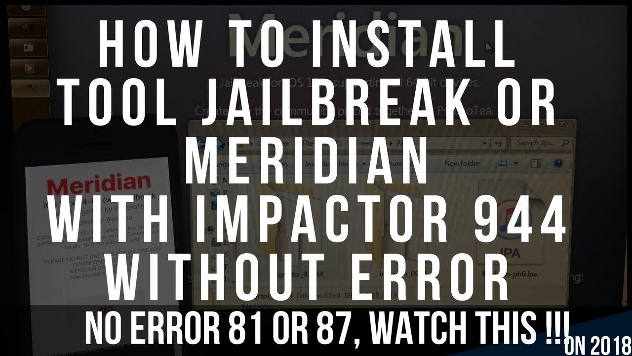 SOLVED! HOW TO FIX CYDIA iMPACTOR 2018 error 81 revoke setting still error  87 ,now u can Jailbreak:)