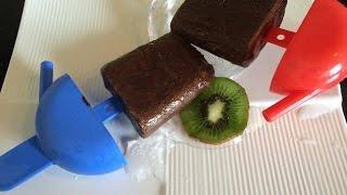Chocolate fudge Popsicles - Homemade Fudgesicles - Chocolate Popsicles - Chocolate Ice cream