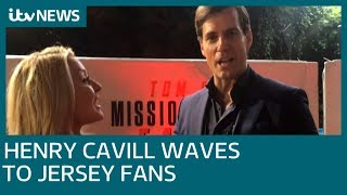 Actor Henry Cavill sends message to Jersey fans at Mission Impossible premiere | ITV News