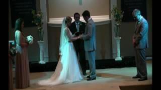 wedding ceremony Joshua Hunt to Rachel Fowler