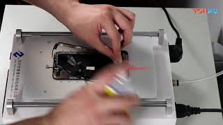 how to remove IPhone X frame change iphone touch screen repair ZWX Tablet laminating machine
