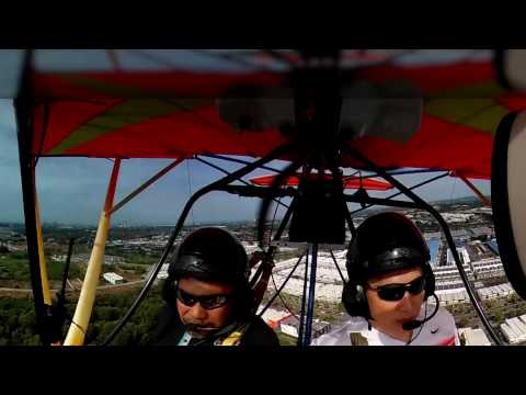 Microlight flight over malacca