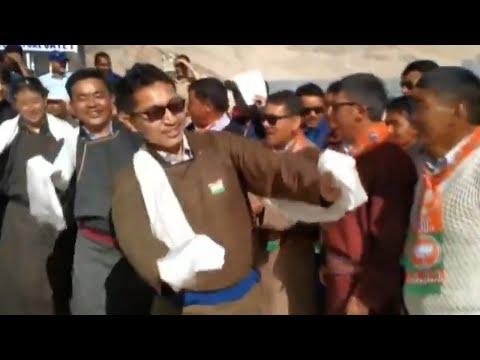 Watch Ladakh BJP MP Jamyang Tsering Namgyal dance during I-Day celebrations