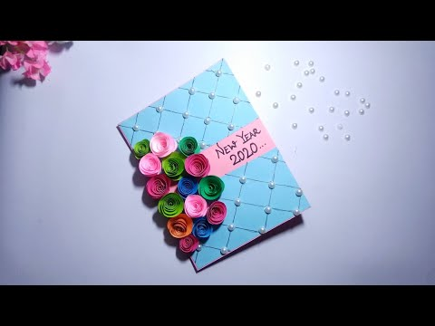 New Year Card 2020| DIY New Year Greetings Card| How to Make a New Year Card for Friends