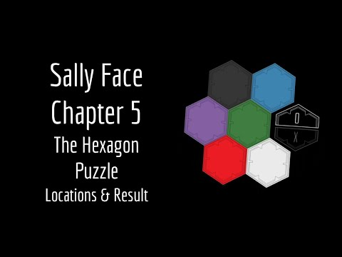 Sally Face Chapter 5 - The Hexagon Puzzle (Locations & Result)