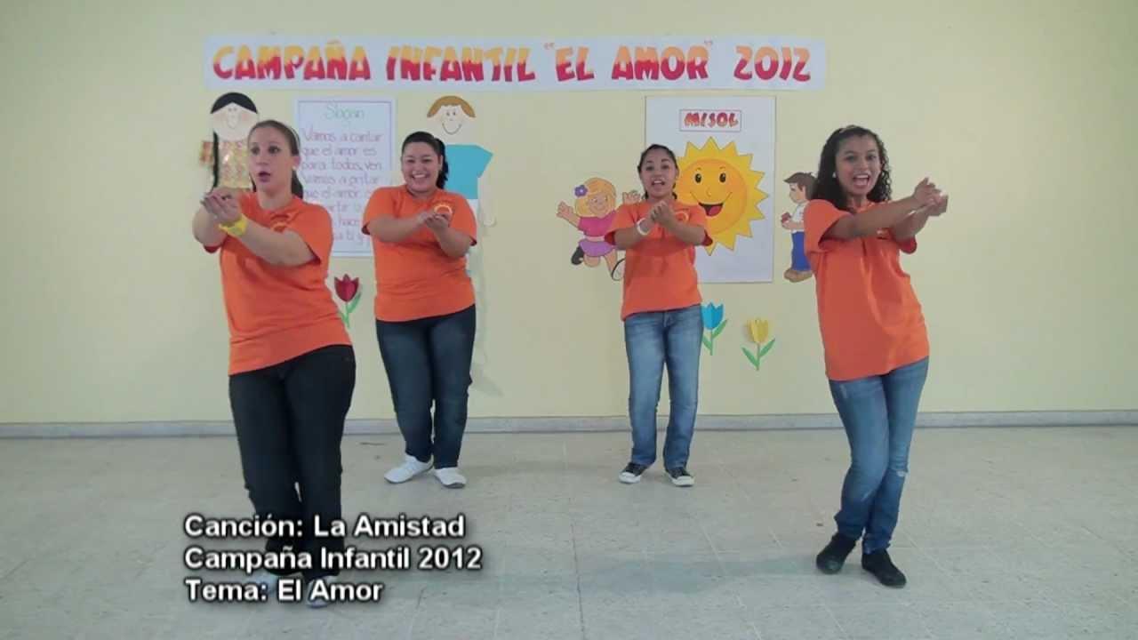 3 1 Cancin La Amistad Campaa Infantil 2012  YouTube