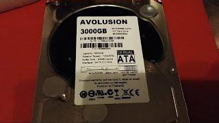 Купил на алиекспресс дешевый жесткий диск на 3000 Гб. HDD Avolusion 3Tb