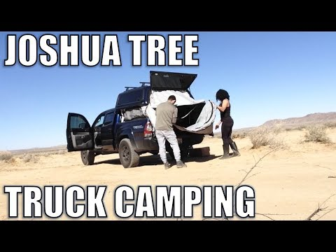 Joshua Tree Camping | Tacoma Truck Camping |  Vegan Family with Baby
