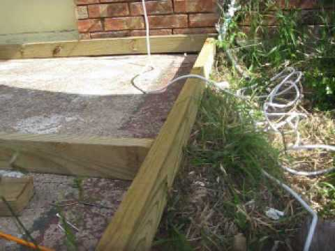 Carlos Building A Wood Deck.WMV   YouTube