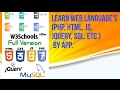 Learn Web language's  (php, html, js, JQuery, SQL. Etc.) By App.