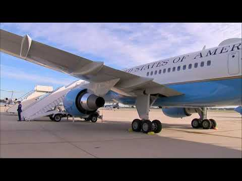 First Lady's plane returns after smoke spotted
