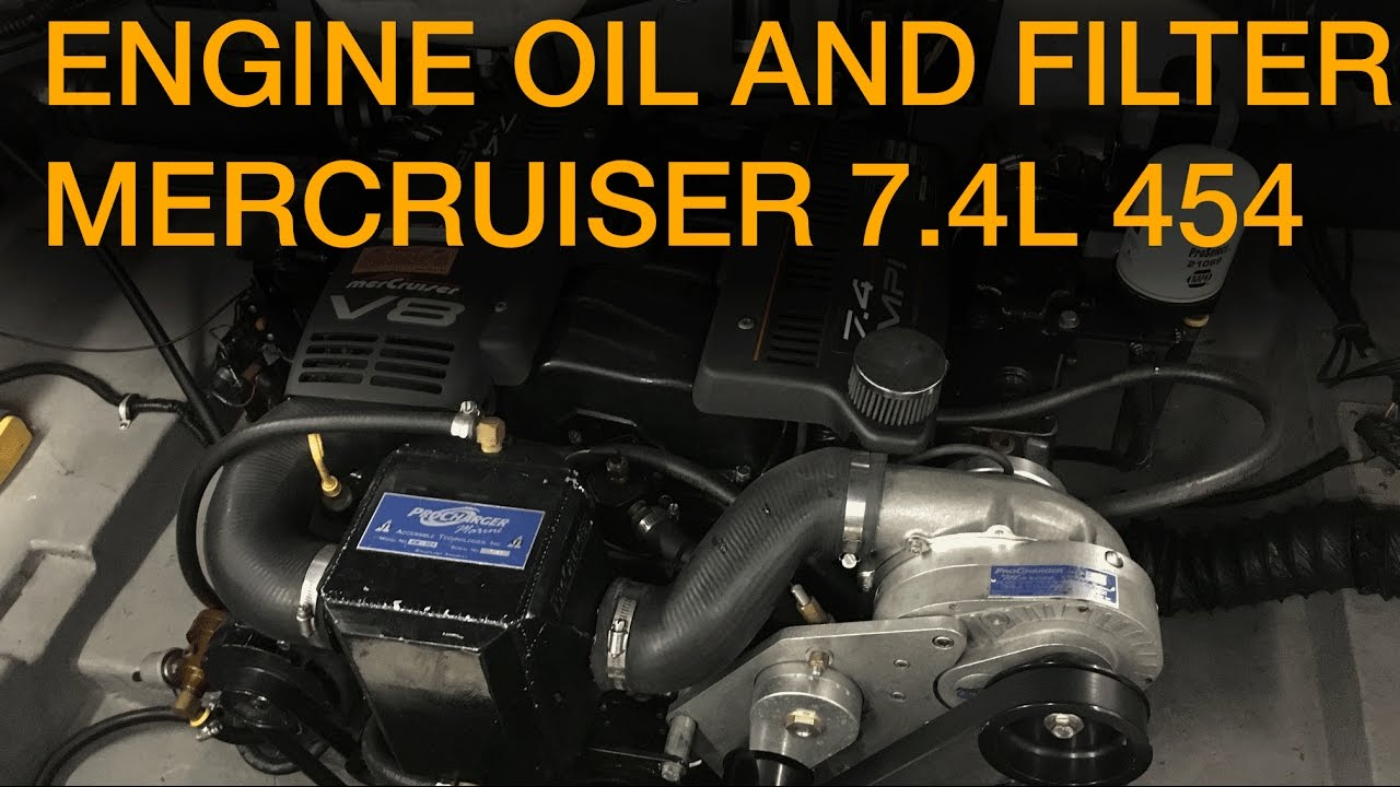 HOW TO: change the engine oil and filter in your Mercruiser 7 4 454