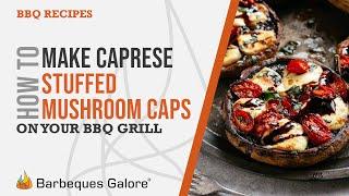 Caprese-stuffed mushroom caps