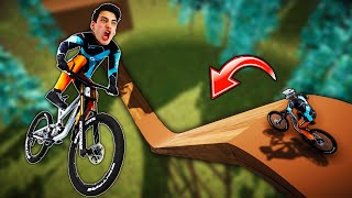 BIKING DOWN THE STEEPEST RAMP! (Descenders)