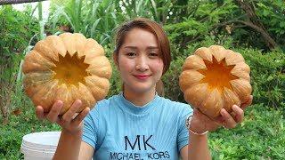 Yummy Pumpkin Custard Dessert - Pumpkin Custard Cooking - Cooking With Sros