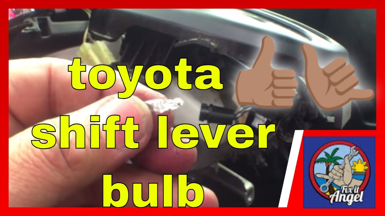 Automatic Gear Shift Lever Bulb Replacement Matrix Toyota Youtube Wish 2004 Fuse Box