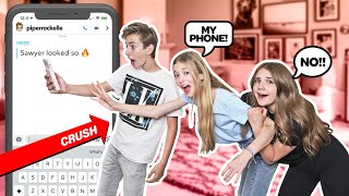 My CRUSH REACTS to my IPHONE Challenge **CAMERA ROLL EXPOSED**📲💔| Emily Dobson