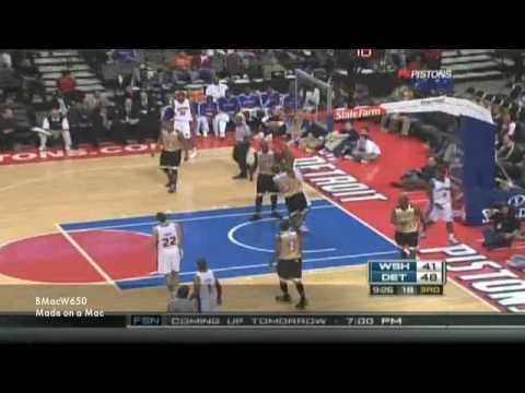 Pistons vs Wizards Highlights 12-17-2008