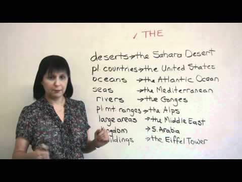 Speaking English - When to use 'THE' with places