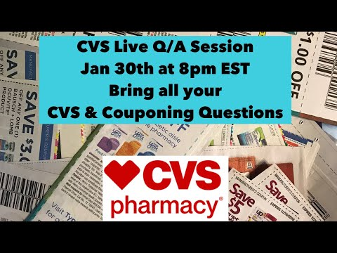 Jan 30th CVS Couponing  Live Q/A